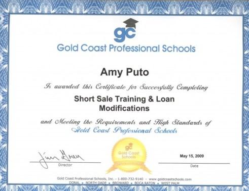 Short Sale Designation Marathon FL Real Estate Amy Puto