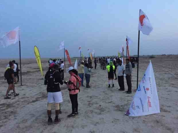 start line, 101km, run the rann