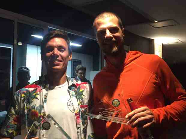 Me and Filippo Rossi - my Swiss tentmate who is attempting the crazy 4 Deserts Grand Slam this year - http://www.filipporossi-ultrarunning.com/