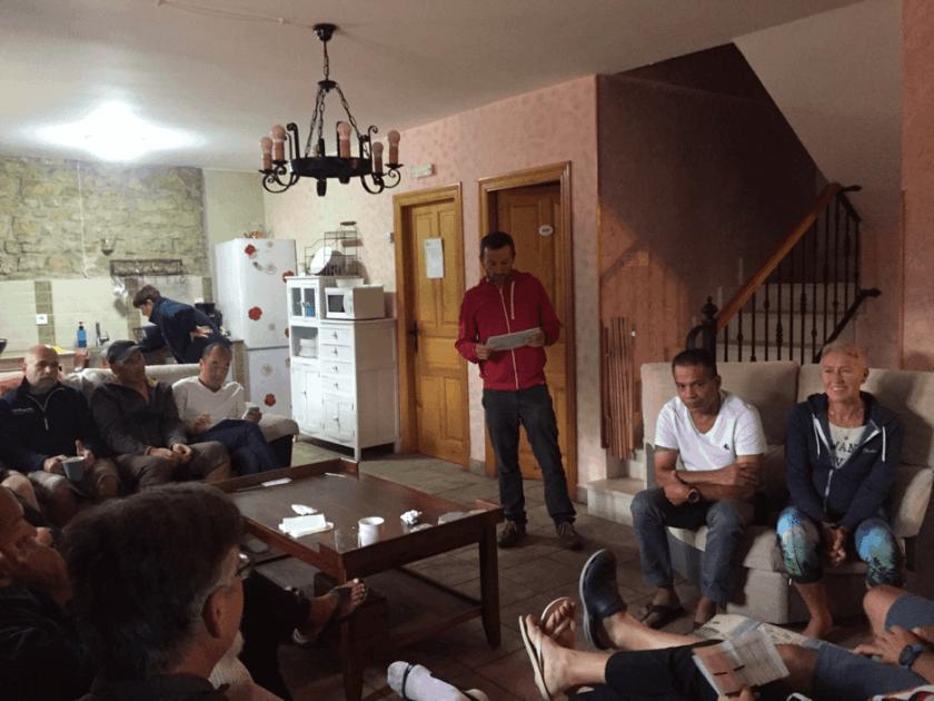 Race briefing, Burgos style