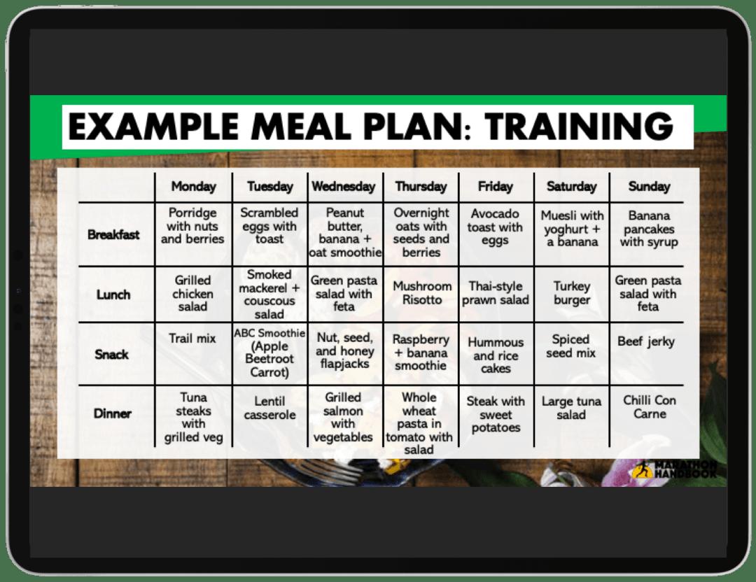 marathon diet pdf