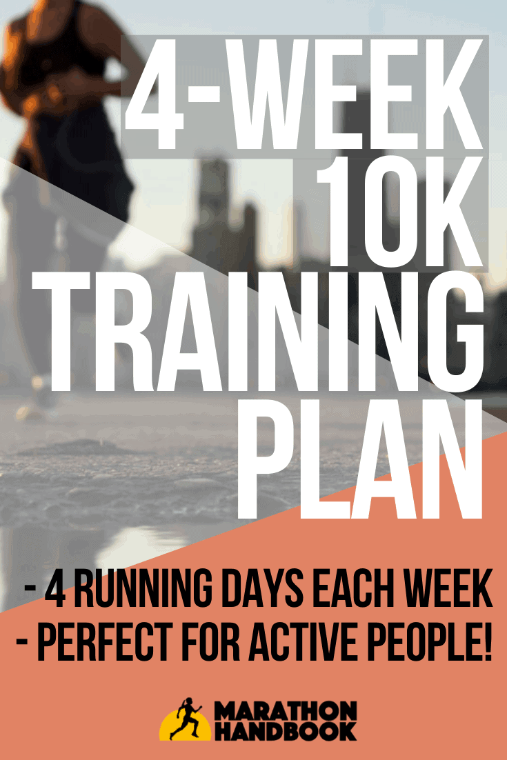 4 week 10k training plan
