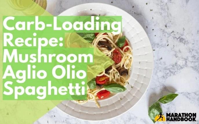 Carb-loading pasta aglio olio