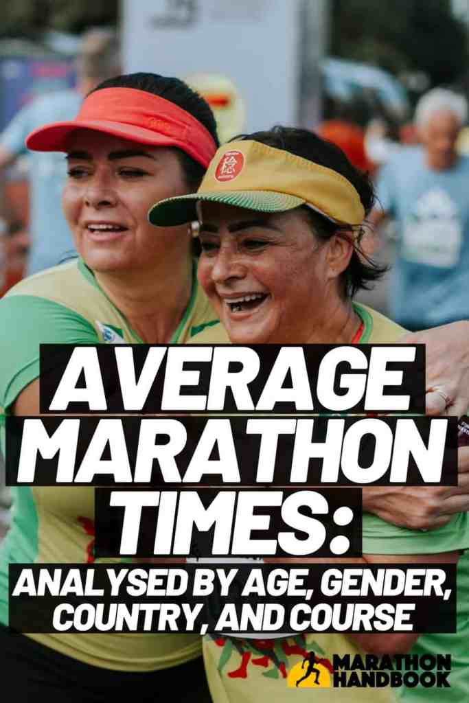 average marathon times by age, gender, etc