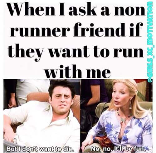 funny running meme friends