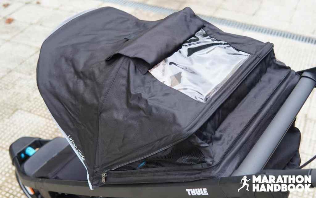 thule urban glide 2 canopy peekaboo window open