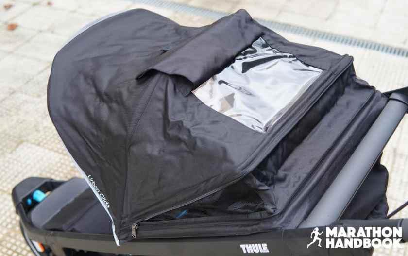 thule urban glide 2 canopy peekaboo window open