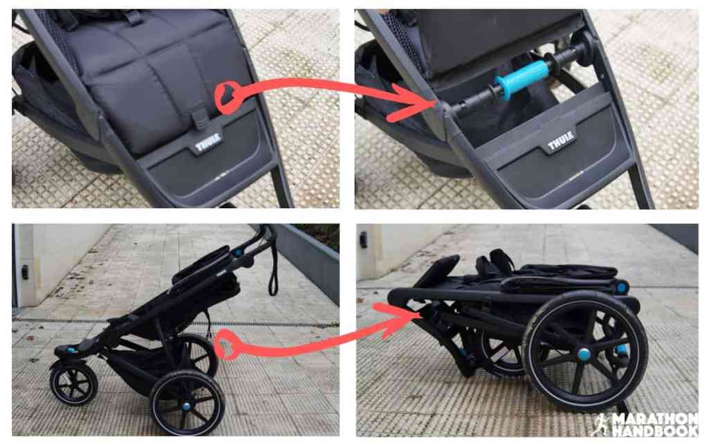 how to fold the thule urban glide 2