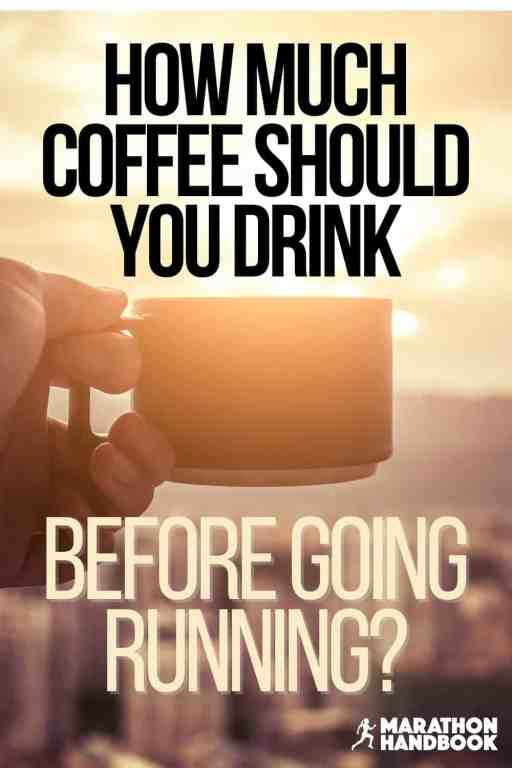 drinking coffee before running