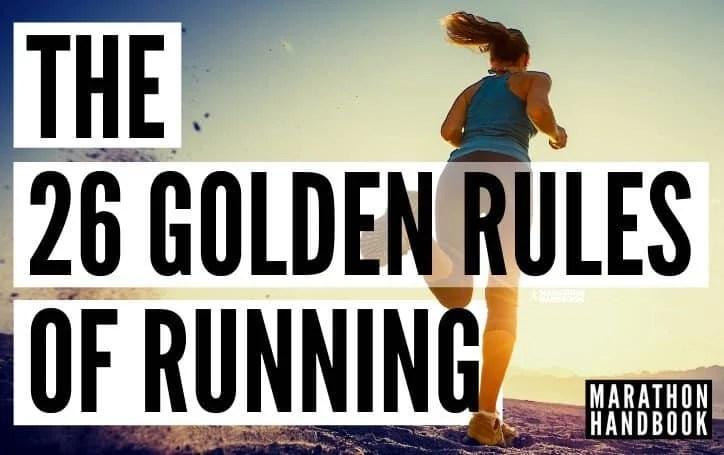 26 golden rules of running 1