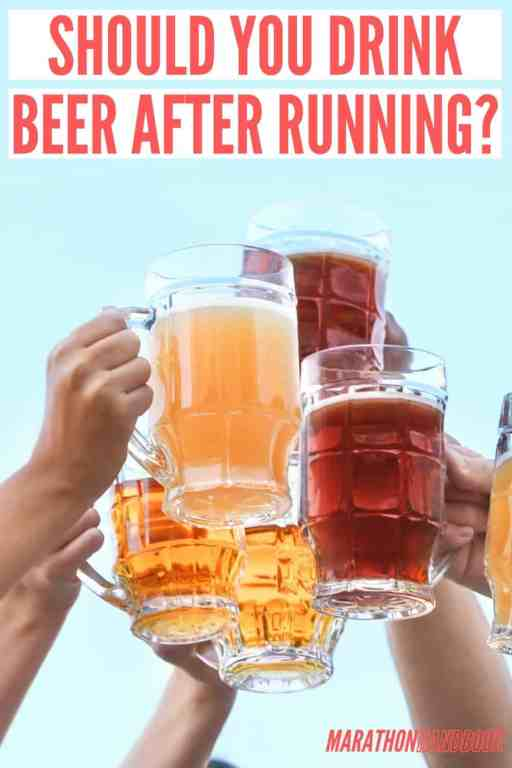 drink beer after running