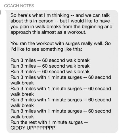 Marathon Race Plan