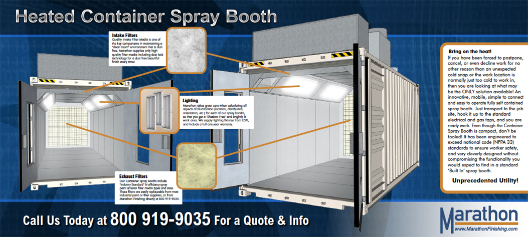 shipping container spray booths