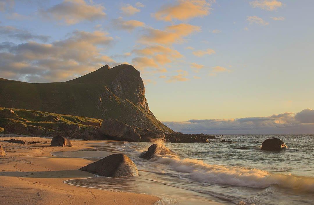 Myrland beach, Lofoten islands, Norway