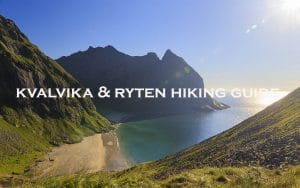 kvalvika beach and ryten mountain hiking gude