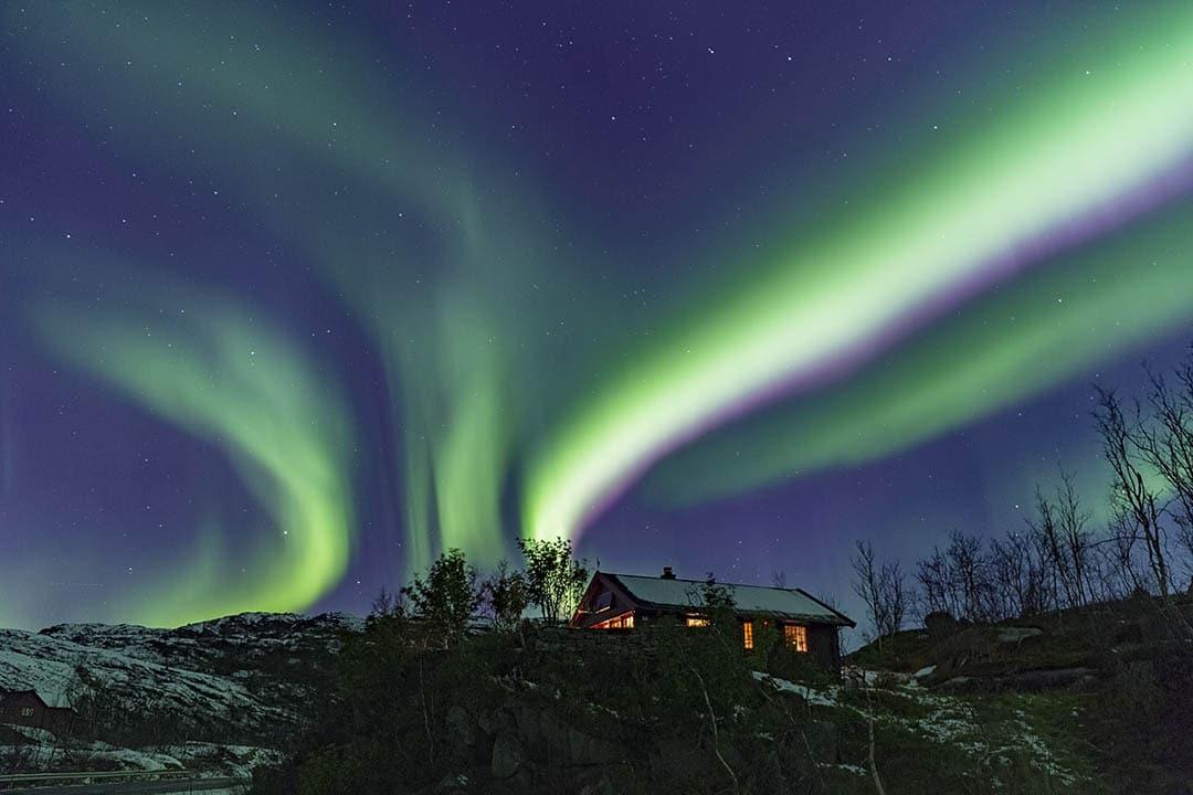 Northern Lights over Lofoten Islands. After.