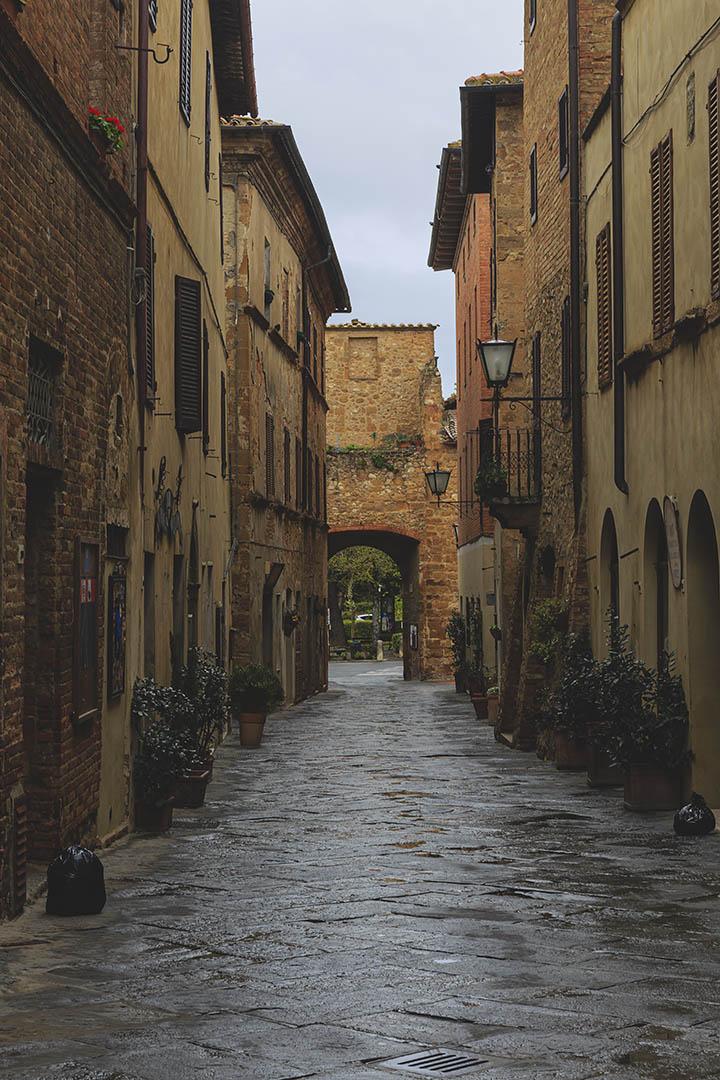 Narrow old streets.