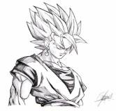 goku pictures in black and white (18)