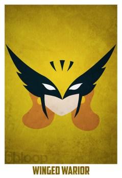Superheroes and villains minimal art posters (34)