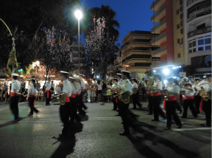 One of Marbella´s brass bands that formed part of the Virgen del Carmen final processions.
