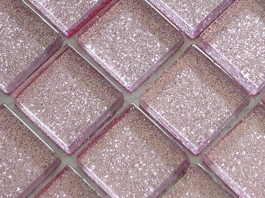 glitter light pink glass mosaic tiles v04
