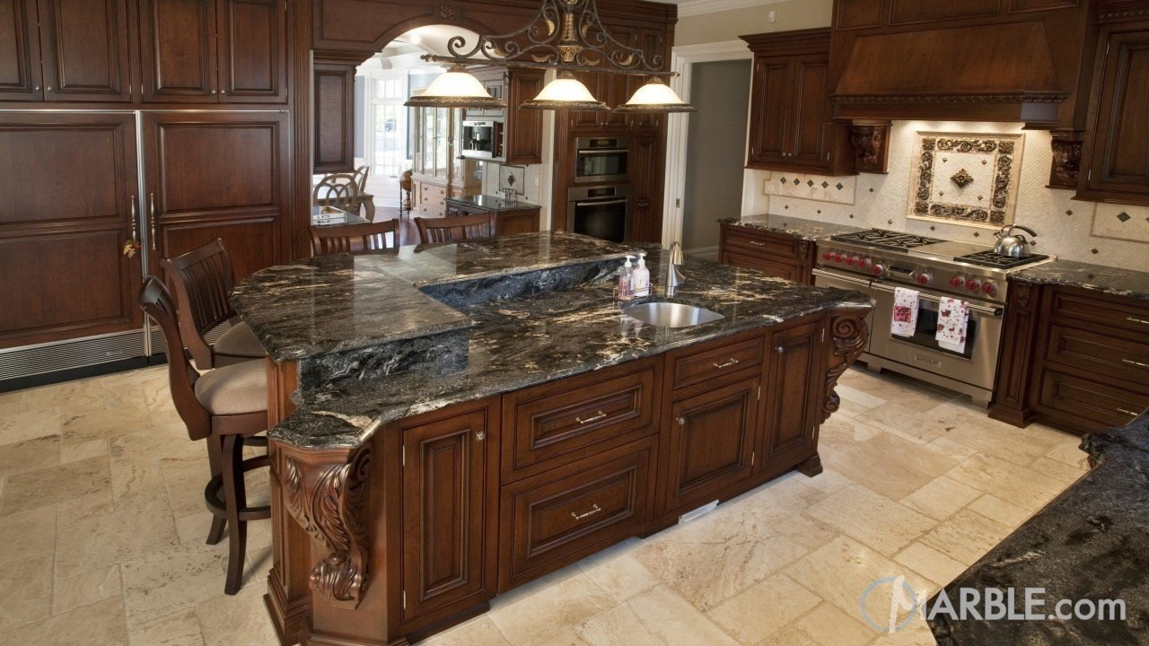 Light or Dark Countertops: What is Right for You? | Marble.com on Dark Granite Countertops  id=15031
