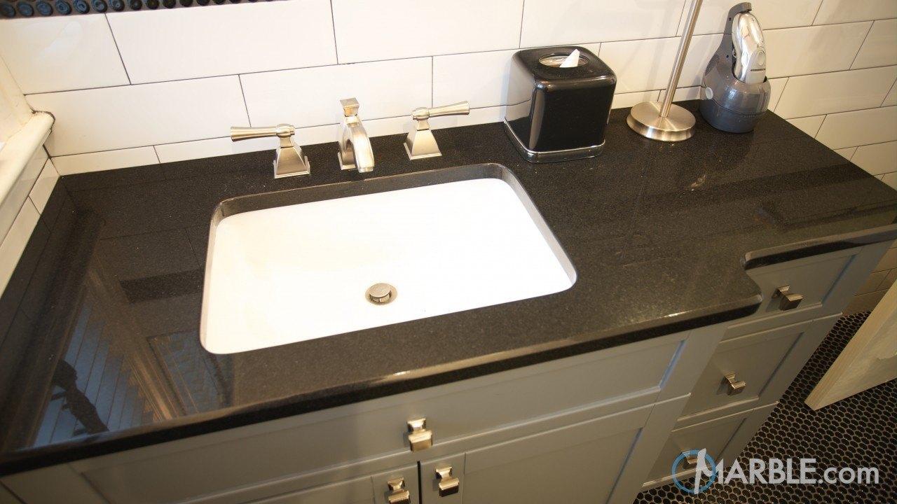 Absolute Black Granite Bathroom Vanity