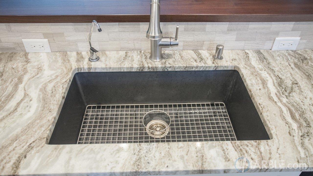 fantasy brown quartzite kitchen