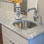Sparkling Blue Marble And Clamshell Quartz Kitchen Marble Com