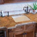 Madura Gold Granite Countertops With Oak Cabinets Marble Com