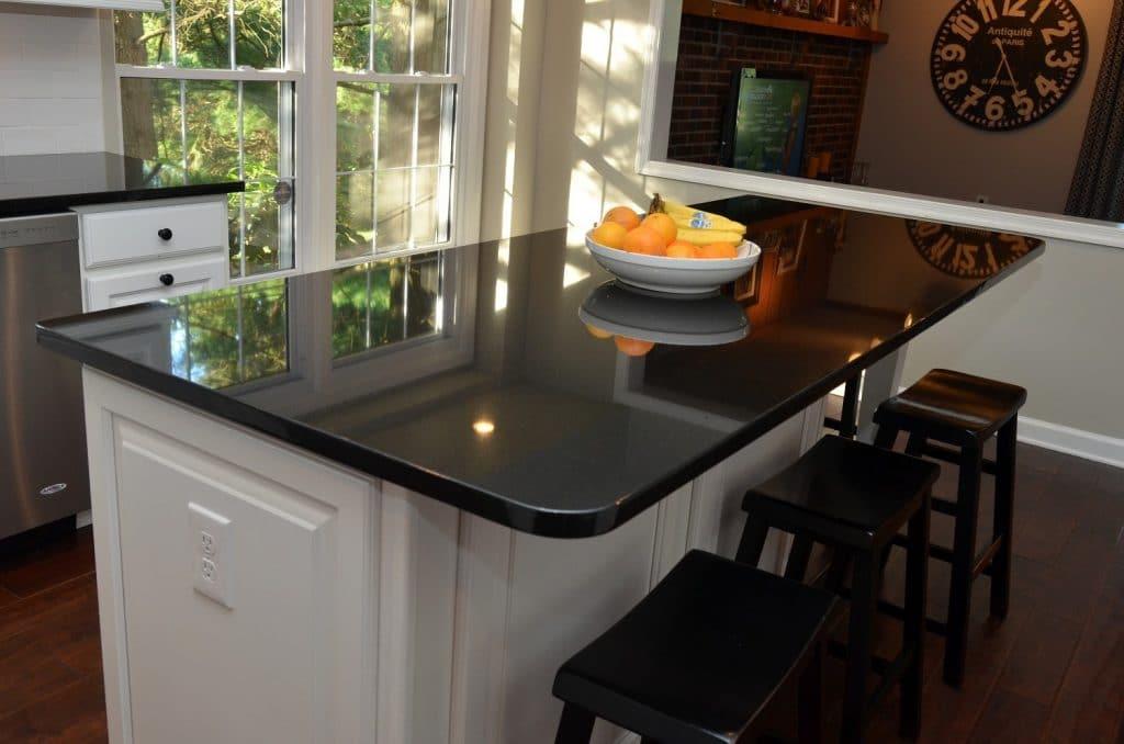 Absolute Black - Tampa Bay Marble and Granite on Dark Granite Countertops  id=43131