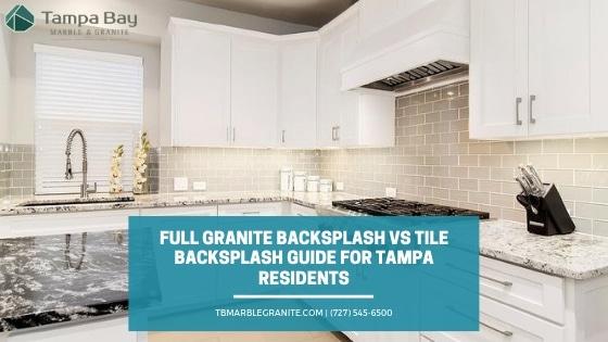 full granite backsplash vs tile