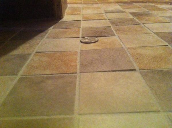 are uneven floor tiles fixable