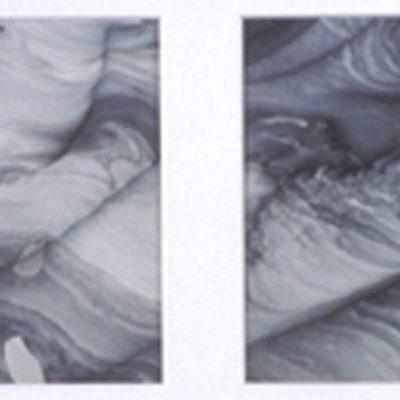 Hughes, Evanston, Illinois, Acrylic on paper, 20 x 10 in