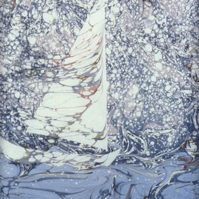 Nancy Lawrence Hayesville, North Carolina, Watercolor on paper, over-marble, 17 x 23 in