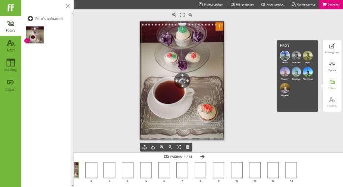 Foto bewerken meerdere filters