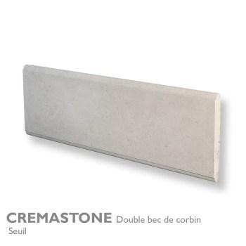 Seuil et margelle CREMASTONE 100 x 30 cm