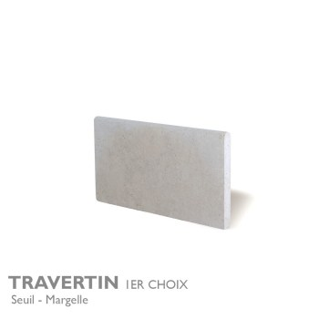 Seuil et margelle TRAVERTIN 1er Choix 61 x 30,5 cm