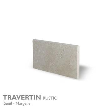 Seuil et margelle TRAVERTIN Rustic 61 x 33 cm