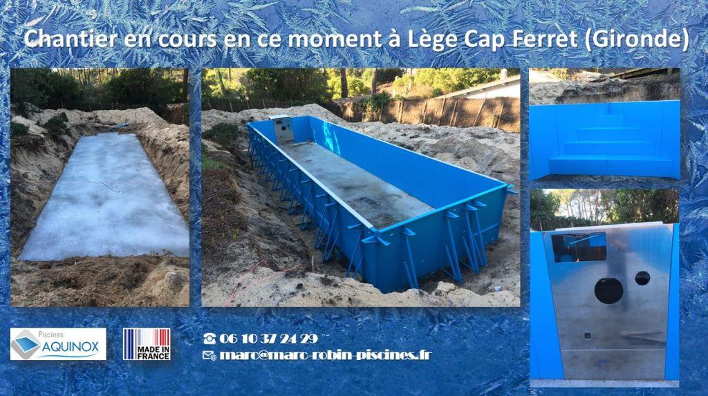 Piscines Aquinox: chantiers d'hiver, Piscines Aquinox: chantiers d'hiver,  Marc Robin Piscines Aquinox Bordeaux