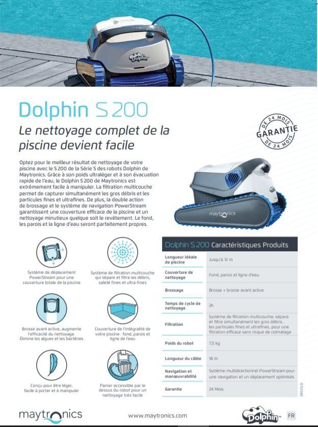 Robot Dolphin S 200, Robot Dolphin S 200, Marc Robin Piscines