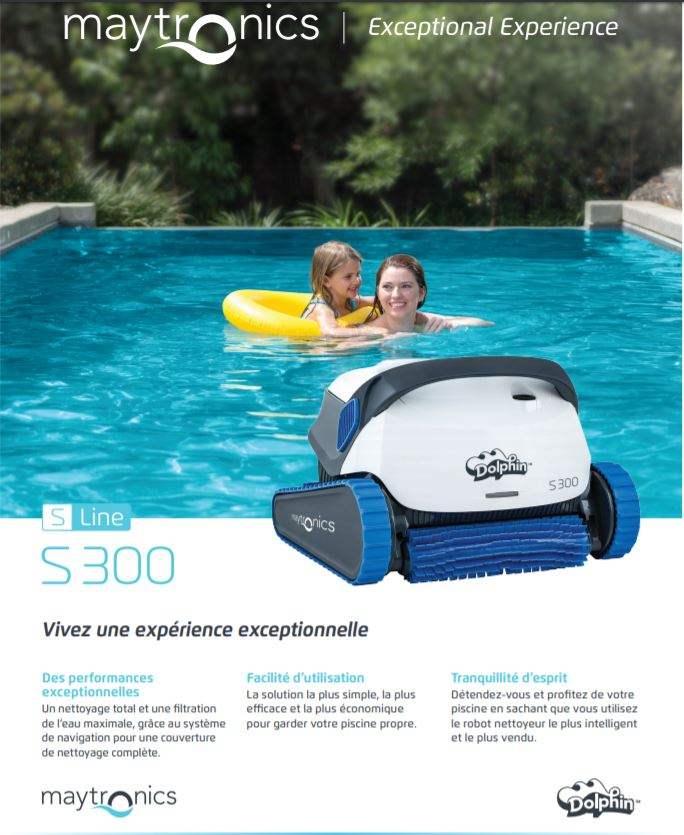 Robot Dolphin S 300, Robot Dolphin S 300, Marc Robin Piscines