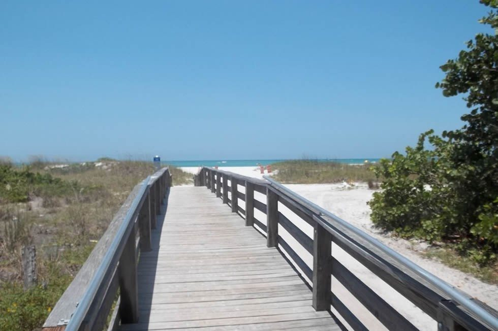 Longboat Key FL beach boardwalk
