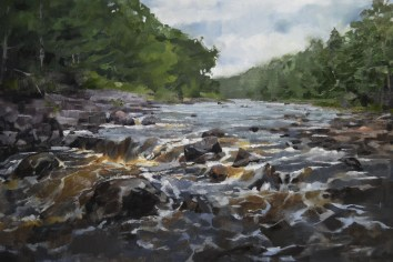 The Bad River 20x30 $1200