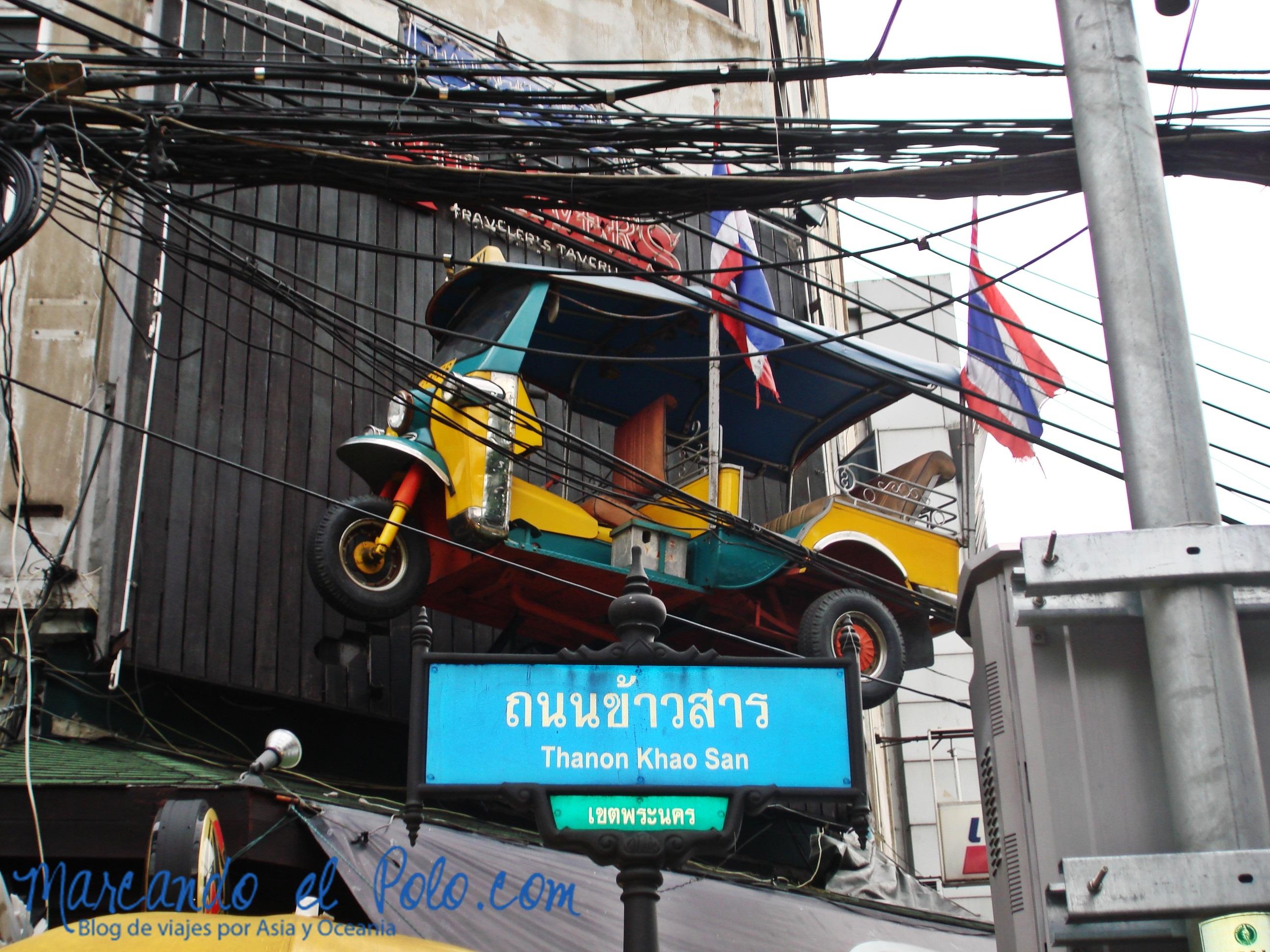 Primer viaje a Bangkok: tuk tuk en llegada a Khao San Rd
