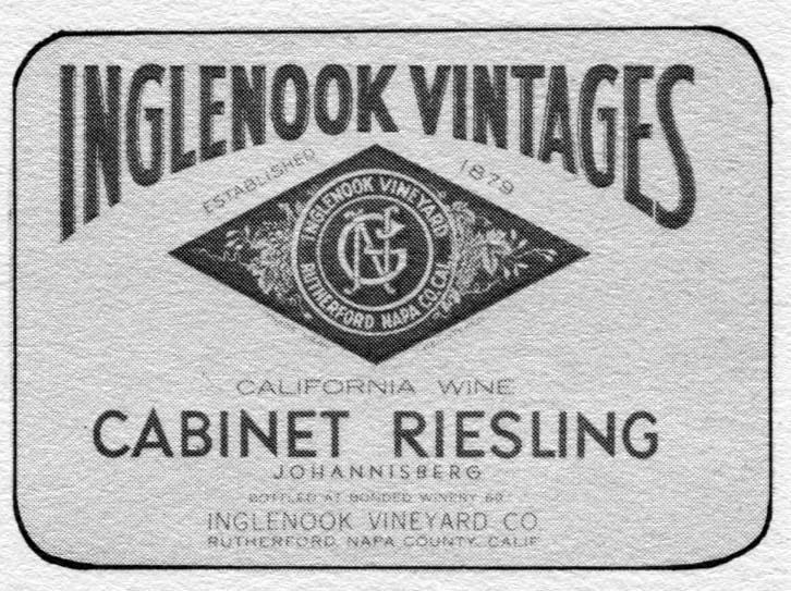 United Vintners Inglenook Vintages