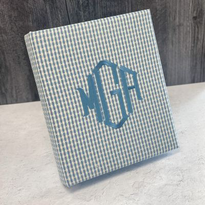 Baby Photo Album Large In Gingham Cotton
