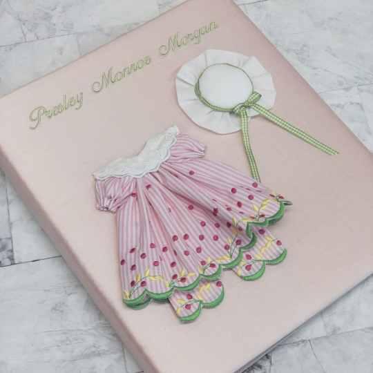Baby-Memory-Book-KBRE-24G-Pink-Silk-Baby-Celadon-Thread