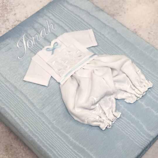 Large-Baby-Photo-Album-AR11-22B-Blue-Ballantines-White-Thread