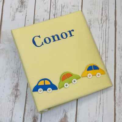 Large-Baby-Photo-Album-AR11-CC-Yellow-Bodoni-Royal-Blue-Thread
